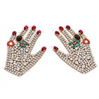 Rhinestone Hand Beaded Patch for Clothing Sewing on Beading Applique DecoraB TK