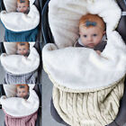 Baby Swaddle Blanket Wrap Warm Sleeping Bag Thickened Knit Stroller Wrap Blanket