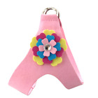 Chest Protective Dog Cat Pet Velvet Flower Pet Chest Harness Traction Rope