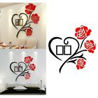 1xfamily Love Rose Wall Decals 3d Diy Photo Wall Stickers Mural Home Decoration