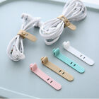 6PC Silicone Data Cable Organizer Headphone Cord Finishing Buckle Wrap T Brpf