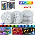 Underwater LED Lights Remote Hot Tub Party Events Home Vase Swimming Pool Decor