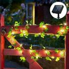 Solar / Battery LED Ivy Fairy String Lights Party Garden Outdoor Wall Fence Lamp