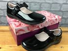 LELLI KELLY BOW DOLLY BLACK PATENT STRAP SCHOOL SHOES CHILDRENS GIRLS RRP£60C