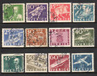1936 Sweden SC 251-262 Used Set of 12 - Postal Service Anniversary*