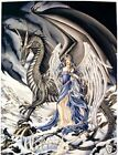 Nene Thomas Omen Fairy Dragon Limited Edition Print HTF Angel Signed Retired