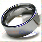 10MM MENS TUNGSTEN CARBIDE PIPE CUT WEDDING BAND RING