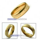 6MM TUNGSTEN GOLD TONE DOME WEDDING BAND RING