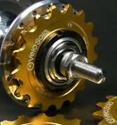 "VeloSolo UK MADE 1/8"" CNC FIXED TRACK COG GOLD 15 16 17 18 19 sprocket fixie"