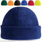 Fleece Beanie Hat Wooly Winter Warm Soft Skiing Sports