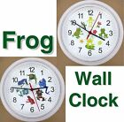 FROGS WALL CLOCK Frog Toad Prince Lilypad Pond Flowers Ribbit Amphibian NEW