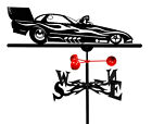 SWEN Products Farrell Series FUNNY CAR AUTO CAR RACING Steel Weathervane