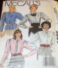 McCall's Pattern 9236 Ms 6 Palmer Pletsch Blouse w Flange Tuck Concealed Buttons