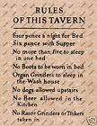 RULES OF THIS TAVERN OLD WILD WEST POSTER WESTERN BAR SALOON DECOR PICTURE 069
