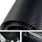 "3D Twill-Weave Glossy Black Carbon Fiber Vinyl Wrapping Sheet Film 24"" x 48"""