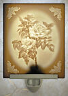 Lithophane Night Light - Roses - Fine Porcelain Art