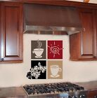 Coffee Paneling Vinyl Wall Decal Word Sticker Border