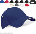 Sandwich Peak Baseball Cap Cotton Sun Summer Contrast Hat Quality Ladies Mens
