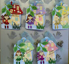 Sparkly Girly Christmas Fairy & Toadstool Gift Tag