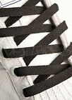 FLAT BLACK SHOE LACES SHOELACES 10mm WIDE - 6 LENGTHS