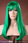 Glorious Classic Style Long Wig - COLOUR CHOICES! Pink White Blue Green Red