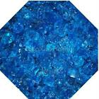 "3/4"" Ocean Blue Fire Glass Fireglass Fire Pit Fireplace Glass Crystals Gas Logs"