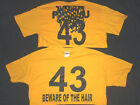PITTSBURGH TROY POLAMALU BEWARE OF THE HAIR YOUTH T SHIRT  *** AL SIZES ***