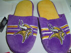 Minnesota Vikings purple with gold Plush House Slippers Adult Size S M L XL