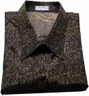 Mens Thai Silk Shirt Short-Long Sleeve / Small-XXXL /  Pattern no.16