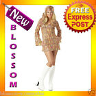 C312 Disco Dolly Diva 60's 70's Retro Fancy Dress Halloween Ladies Costume S M L
