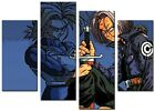 ORIGINAL CANVAS ABSTRACT PICTURE LARGE ART PRINTS BLUE  DRAGONBALL Z