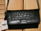 Minnetonka Genuine Leather Clutch with Shoulder Strap-Conco accent- Croc Pattern