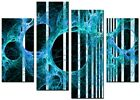 ABSTRACT ART CANVAS WALL ART QUALITY PRINTS CONTEMPORARY DIGITAL BLUE  ART AMY