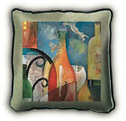 Home Bar, Pool Billiards or Man Cave Vino Wine Woven Art Tapestry Pillow