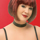 Black Leather Choker w Adjustable Two Snap Closure Plus Sizes OS or XL CH-100