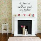 As For Me & My House Christian Verse Vinyl Decal Stickers Wall Lettering Decor
