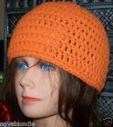 Custom Hand Crochet Closed Beanie Skull Cap Hat XS-XL w wo Open Top Color Choice