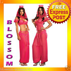 C538 Sexy Genie May K Belly Dancer Girl Adult Fancy Dress Halloween Costume