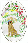 Labrador Rainbow Bridge Card Embroidered by Dogmania