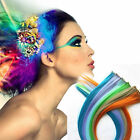 """1 x Popular Punk Colorful Clip On In Hair Extensions 22"""" - 23"""" Synthetic"""