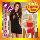 CD7 Black Red Cocktail Dance Party Club Wear Multi Way Mini Dress Womens Fashion