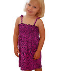 Darkside Clothing Pink Leopard Animal Print Pink Glam Baby Toddler Strap Dress