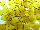 YELLOW TRANSLUCENT handcut stained glass mosaic tiles #181