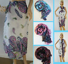 1 Oblong Shawl Paisley Beach Skirt Dress Cover  Sarong Sarung Scarf
