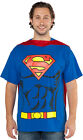 Adult Superman T-Shirt Cape Costume Halloween
