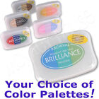 BRILLIANCE pigment tri-color INKPAD archival 3-color rainbow palette stamp pad