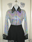 Woman's All Over Sequined Western Rail or Glamor Shirt in 3 Color Choices