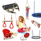 NEW Garden Outdoor Swings Climbing Rope Ladder Wooden Frame Wall Trapeze Safety