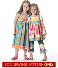 SEWING PATTERN! MAKES TOP~DRESS~BELT~ACCENTS! CHILD 2 TO 8! GIRL~BOUTIQUE STYLE!