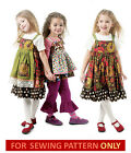 SEWING PATTERN! MAKES TOP~PANTS~JUMPER~APRON! CHILD 2 TO 8! GIRL~BOUTIQUE STYLE!